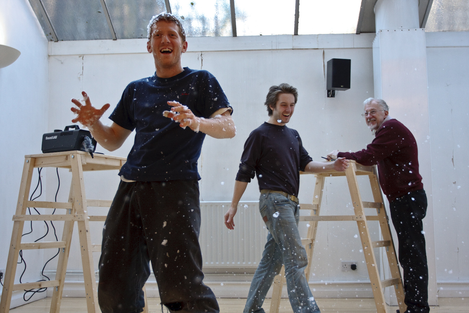 The Snow Queen Rehearsals - Robin Guiver, Alexander Parsonage and Tony Cleary